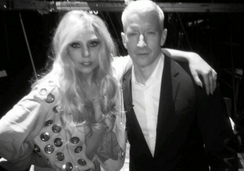 Lady Gaga and Anderson Cooper