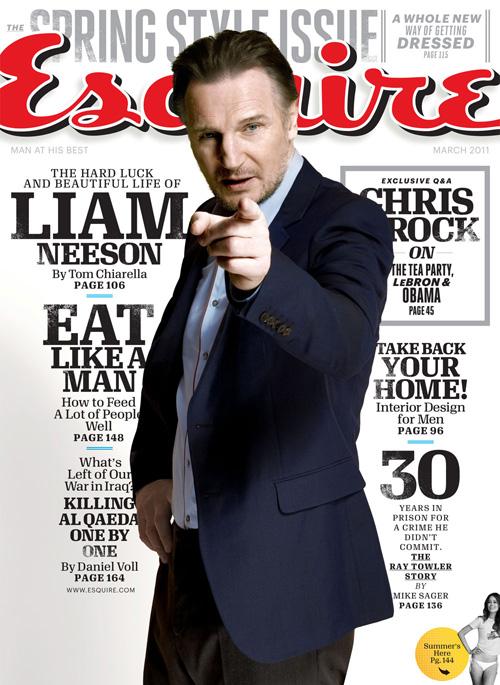 Liam Neeson - Esquire Magazine