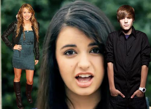 Miley Cyrus, Rebecca Black, Justin Bieber