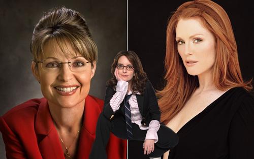 Sarah Palin, Tina Fey and Julianne Moore