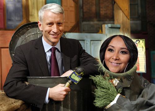 Anderson Cooper and Nicole 'Snooki' Polizzi