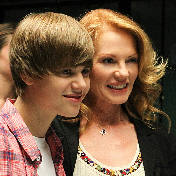 Justin Bieber and Marg Helgenberger