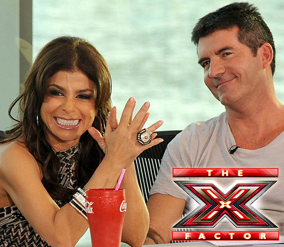 Paula Abdul and Simon Cowell