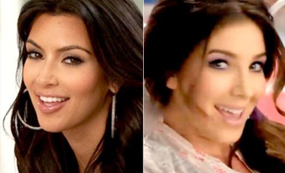 Kim Kardashian and Melissa Molinaro