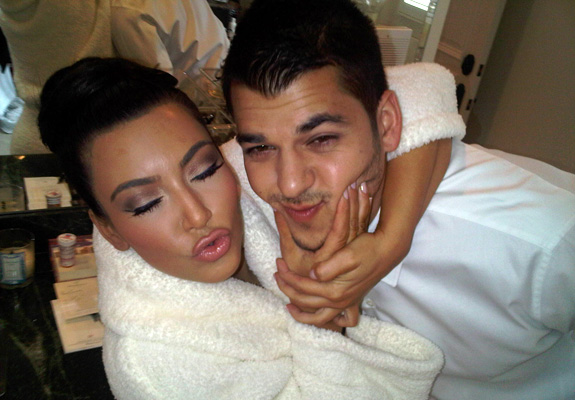 Kim and Rob Kardashian