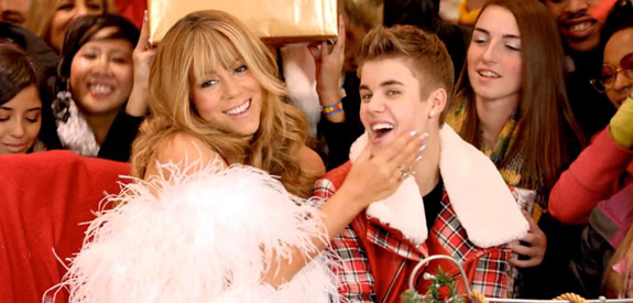 Mariah Carey and Justin Bieber