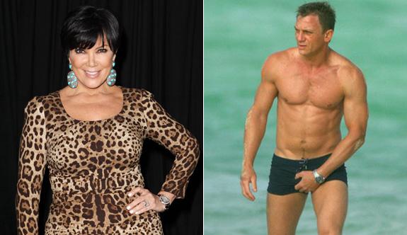 Kris Jenner and Daniel Craig