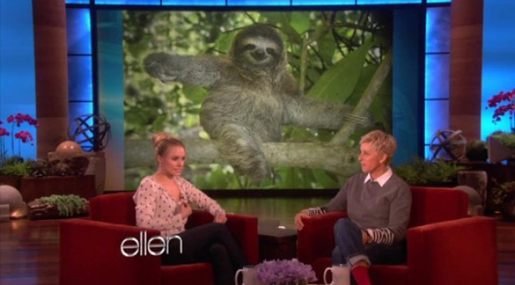 Ellen DeGeneres and Kristen Bell