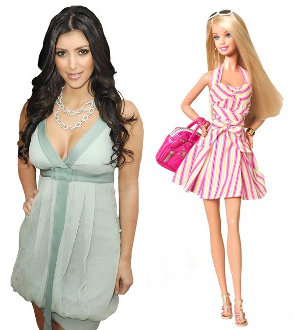 Kim Kardashian and Barbie