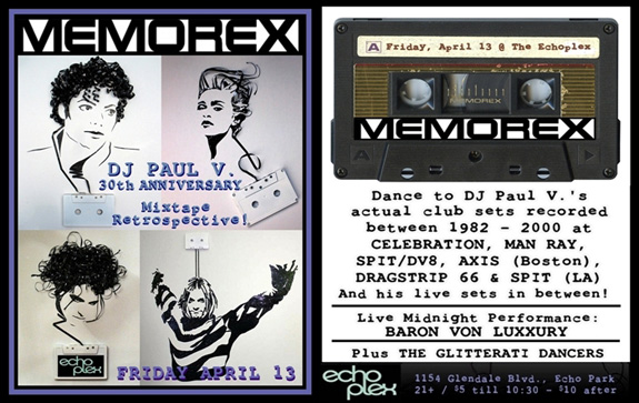 """MEMOREX"" at The Echoplex"