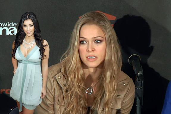 Kim Kardashian and Ronda Rousey