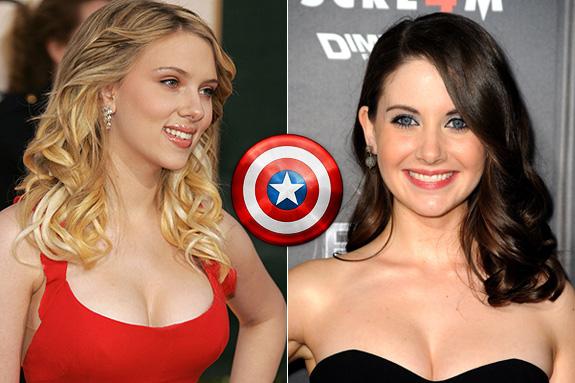 Scarlett Johansson and Alison Brie