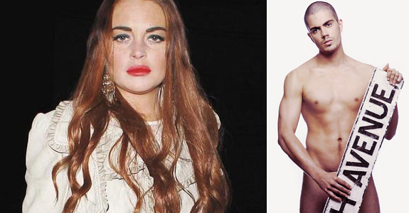 Lindsay Lohan and Max George