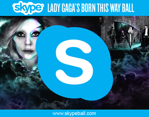 Skype and Lady Gaga's Born This Way Ball