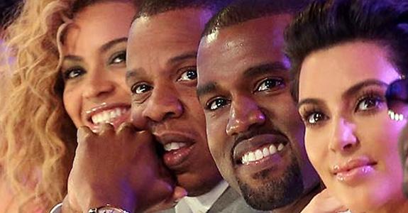Kanye West, Beyoncé, Jay-Z, Kim Kardashian
