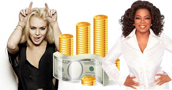 Lindsay Lohan and Oprah Winfrey