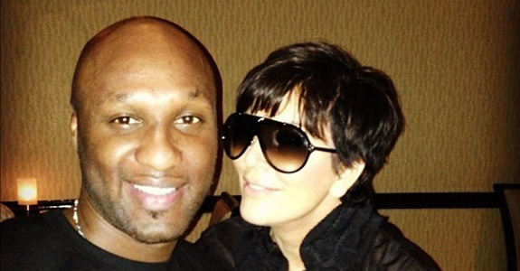 Kris Jenner and Lamar Odom