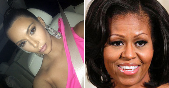 Kim Kardashian and Michelle Obama