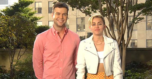 Miley Cyrus and Taran Killam