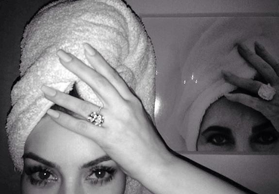 Kim Kardashian does Elizabeth Taylor