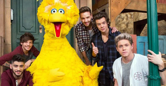 One Direction and Big Bird