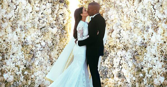 Kim Kardashian and Kanye West Wedding Picture