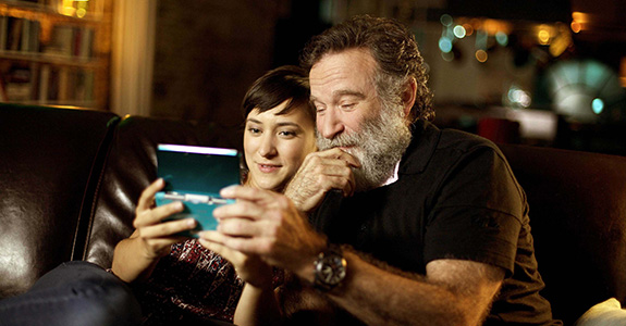 Robin Williams with daughter Zelda Williams
