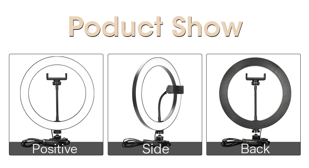 LED Ring Light Photography Lighting Selfie Lamp USB Dimmable With Tripod For Youtube Makeup Video Live Photo Studio