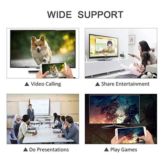 1.8M 8 Pin to HDMI Male Cable HD 1080P HDMI Converter Adapter USB Cable For HDTV TV Digital Audio Adapter Cable for iphone IOS