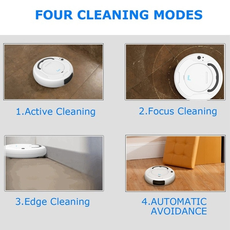 1800 Pa Multi-function Robot Vacuum Cleaner Cleaning Machine Intelligent Charging Vacuum Cleaner Three-in-one Sweeping Machine