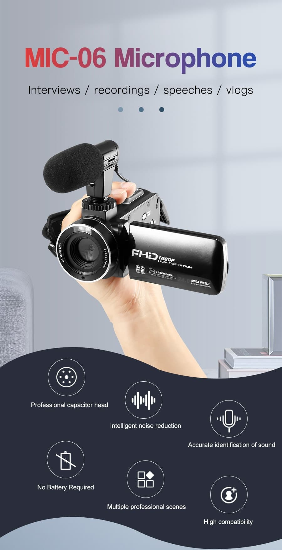 MAMEN Phone Microphone Mini Portable 3.5mm Condenser Phone Video Camera Interview Microphone With Muff For iPhone Samsung Mic