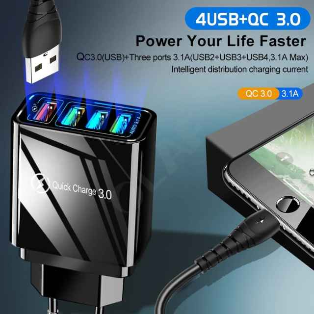 Quick Charger 3.0 USB Charger