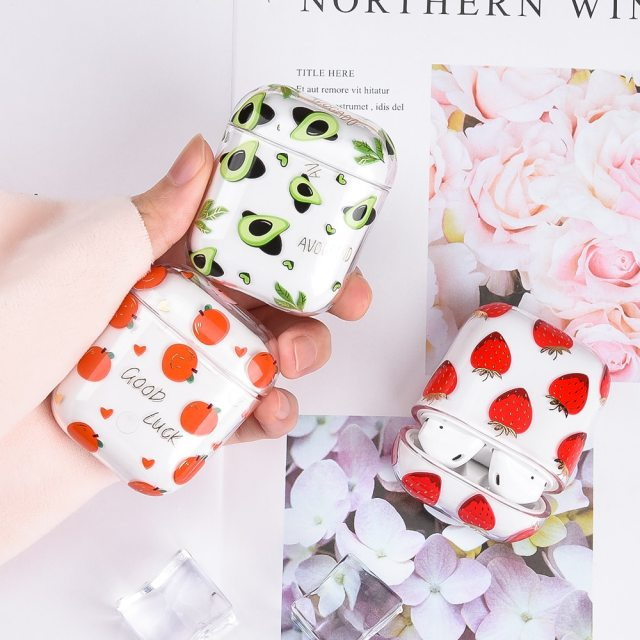 AirPod Case Flower Transparent Clear Hard Plastic Wireless Bluetooth Earphone Cases For Apple Airpods 2 1 Cover Funda