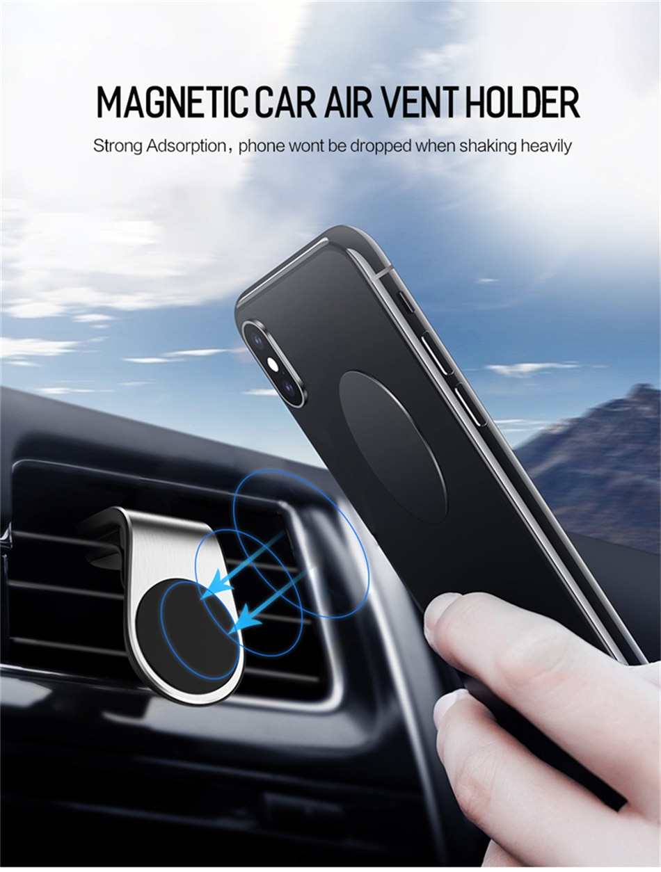 Lovebay Magnetic Car phone Holder Stand for iphone Samsung Xiaomi 360 Metal Car Air Vent Magnet Stand in Car GPS Mount Holder