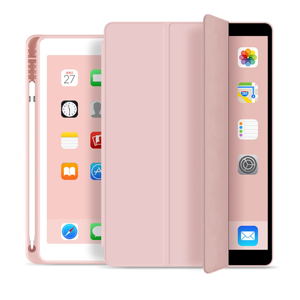 Case for 2019 iPad 10.2 7th 2018 2017 9.7 Mini 4 5 2020 Pro 11 10.5 Air 3 Smart Cover with Pencil Holder iPad 5th 6th Generation