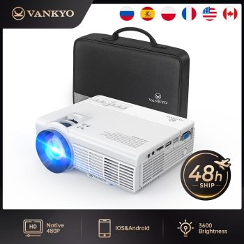 "VANKYO Leisure C3MQ Mini Projector Supported 1920*1080P 170"" Portable Projector For Home With 40000 Hrs LED Lamp Life TV Stick"