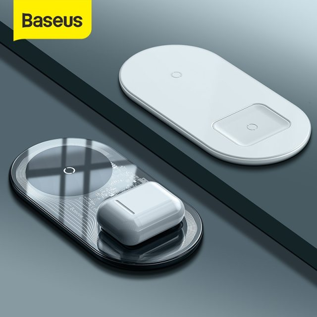 Baseus Visible Wireless Charger For iPhone 12 11 Wireless Charge Pad For iPhone Airpods Fast Charging Wireless Charge Devices
