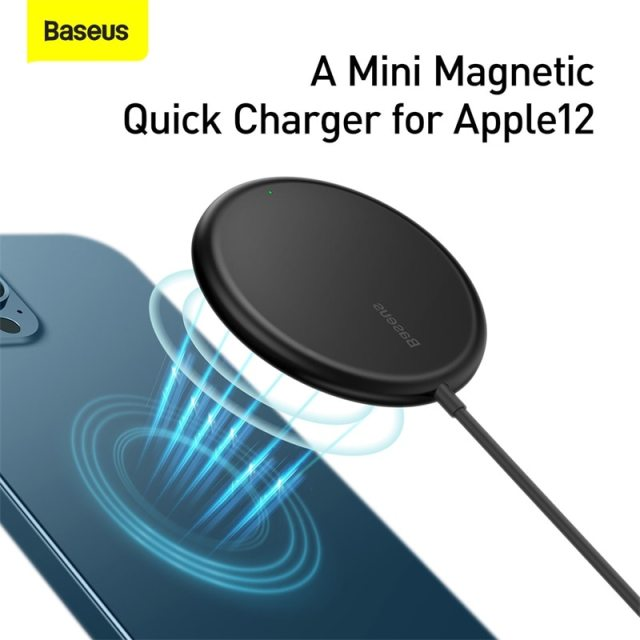Magnetic Wireless Charger For iPhone 12 Pro Max Charger With Cable Magnet Fast Charger For iPhone Wireless Charging Pad