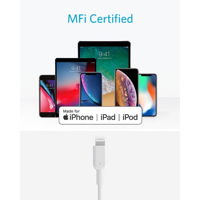 iPhone 12 Charger Cable, Anker USB C to Lightning Cable [3ft Apple MFi Certified] Powerline II for iPhone 12 series