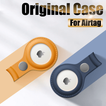 Pu Leather Protective Sleeve Case Cover For Apple Airtag Tracker Location Protector For Iphone Airtags Keychain Smart Accessory