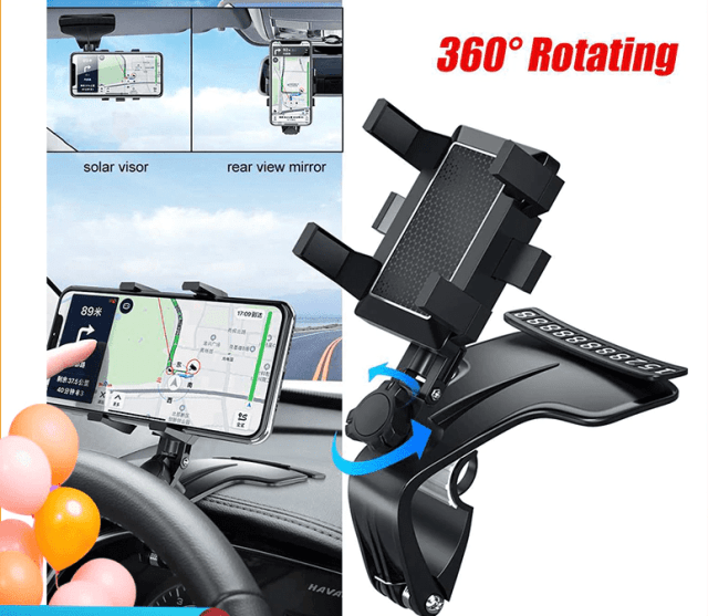 Car Dashboard Phone Holder 1200 Degree Mobile Phone Stands GPS Navigation Bracket