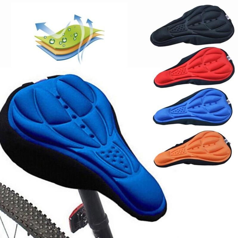 Mountain Bike Saddle Breathable Cushion Cover Road Bike Thickened Soft Cycling Seat Mat 3D Sponge Polymer Bicycle Saddle Seat