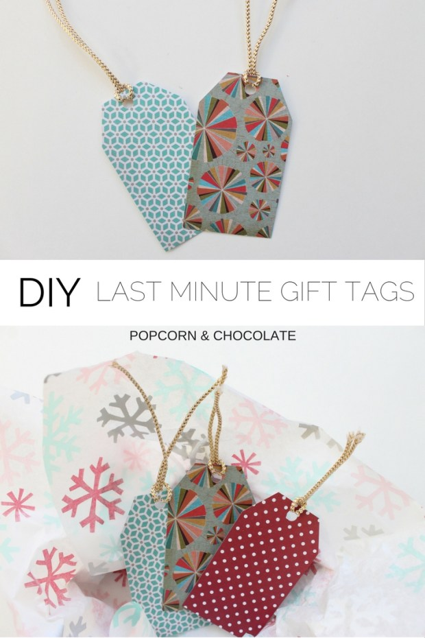DIY last minute gift tags | Popcorn & Chocolate
