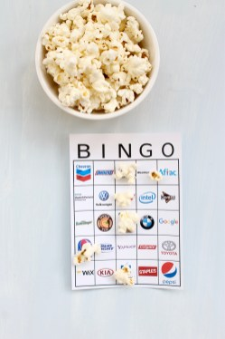 Super Bowl Bingo Boards   Popcorn & Chocolate