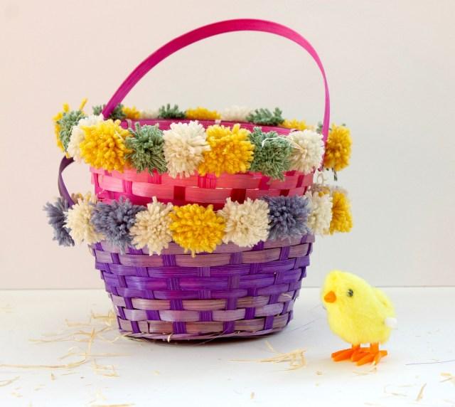 DIY Pom-Pom Easter Basket | Popcorn & Chocolate