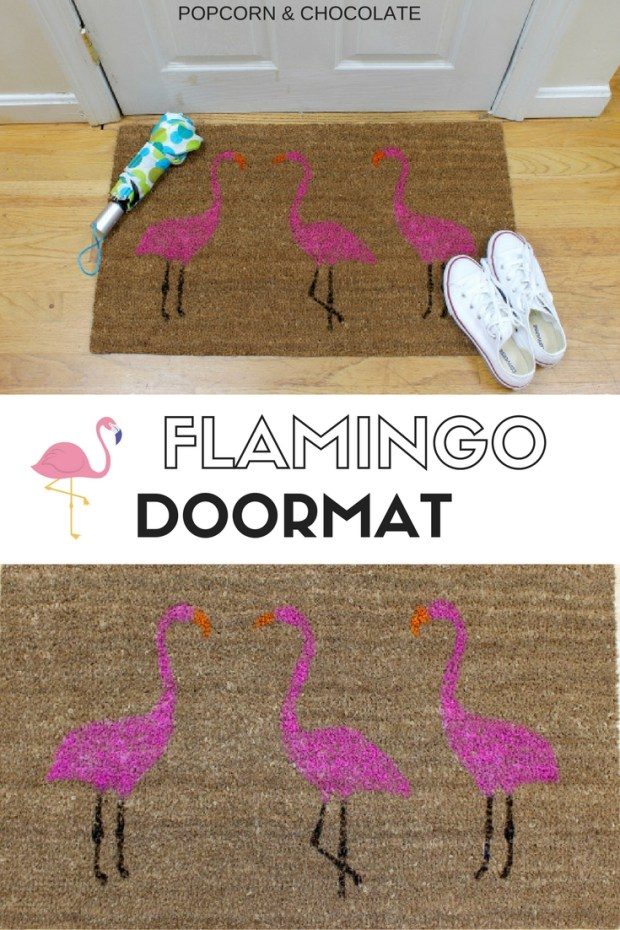 Flamingo Doormat | Popcorn & Chocolate