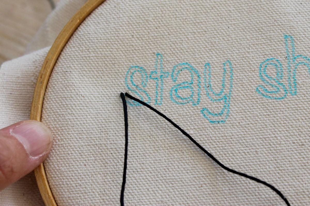 DIY Embroidered pencil case