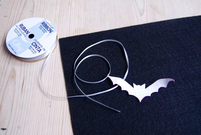 Halloween bat choker | Popcorn & Chocolate