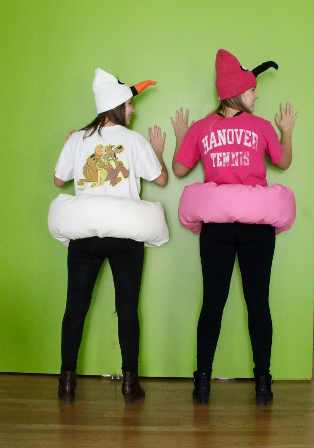 Flamingo and swan pool float costume   Popcorn & Chocolate
