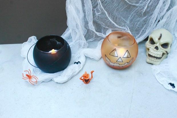 DIY halloween candle jars | Popcorn and Chocolate